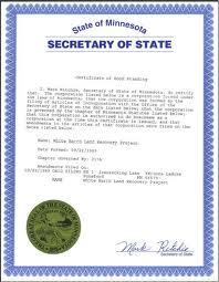 Minnesota certificate of good standing, Minnesota certificate of existence, Minnesota certificate of status, Minnesota