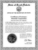 North Dakota certificate of good standing, North Dakota certificate of existence, North Dakota certificate of status, North Dakota