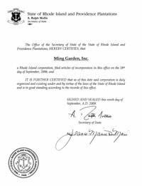 Rhode Island certificate of good standing, Rhode Island certificate of existence, Rhode Island certificate of status, Rhode Island
