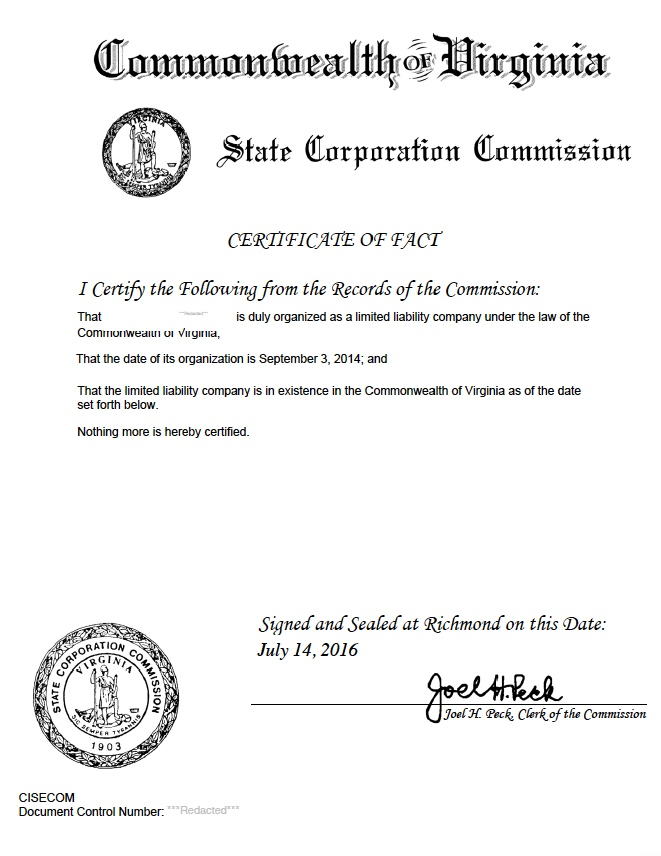 West Virginia Certificate Of Good Standing Certificate Of