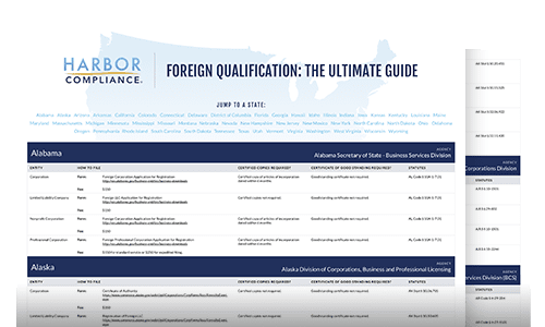 A preview of the Foreign Qualification Ultimate Guide