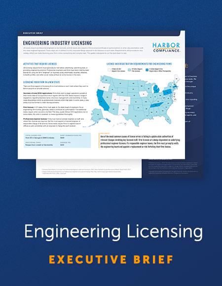 Executive Brief: Engineering Licensing