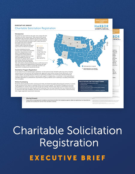 Executive Brief: Charitable Solicitation Registration