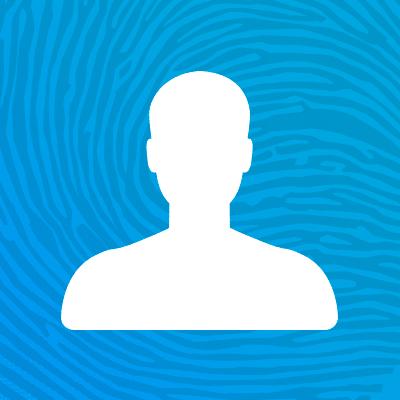 A line icon of a single person