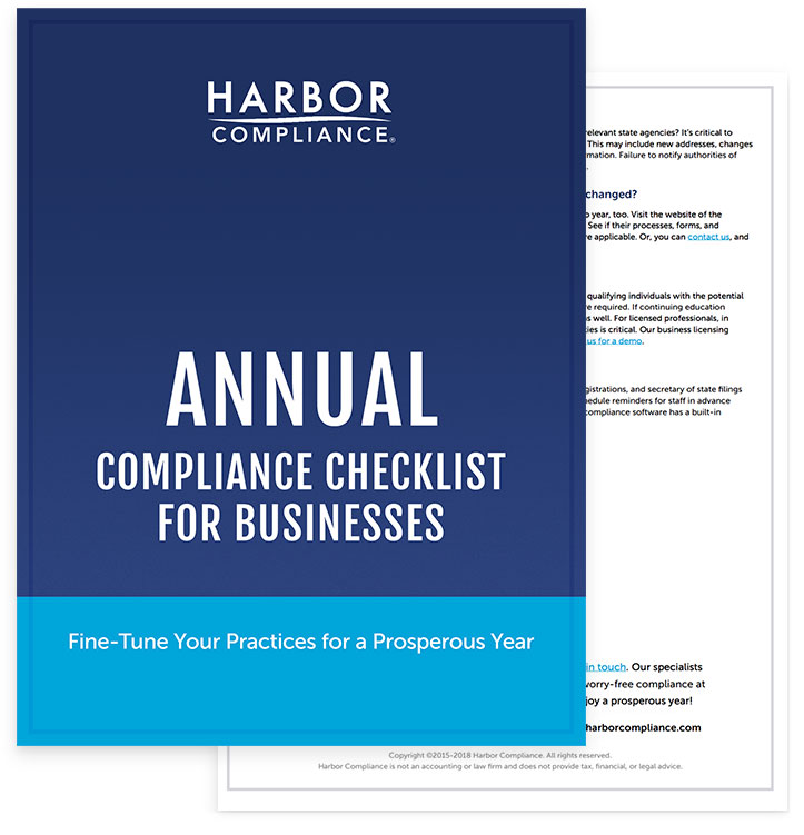 Annual Compliance Checklist for Businesses