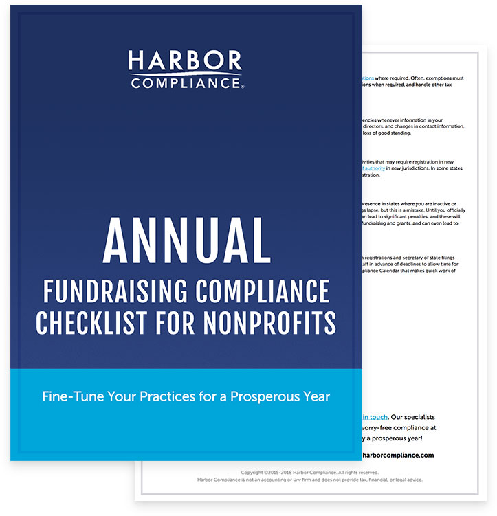A preview of our Annual Compliance Checklist for Fundraising white paper