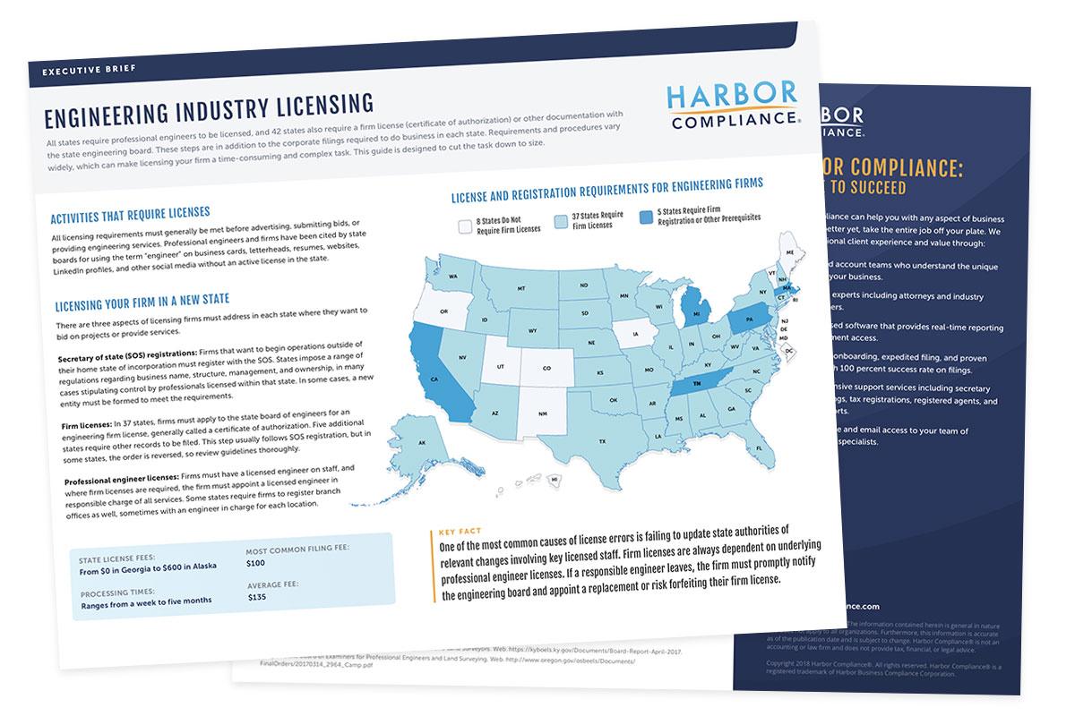 Engineering Industry Licensing executive brief