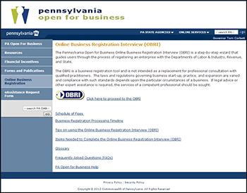 pennsylvania articles of incorporation