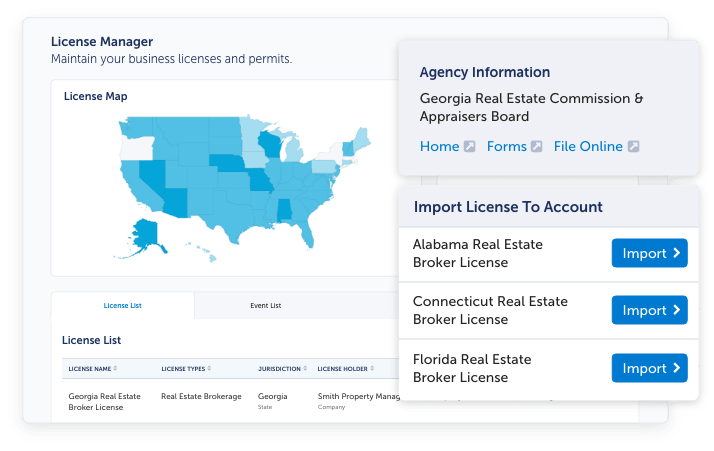 A screenshot of our License Manager software